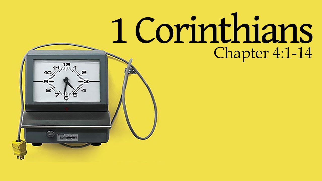 Featured HD 1Corinthians 4 1 14